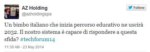 thecnlogy forum Ambrosetti con Rosa Giuffre