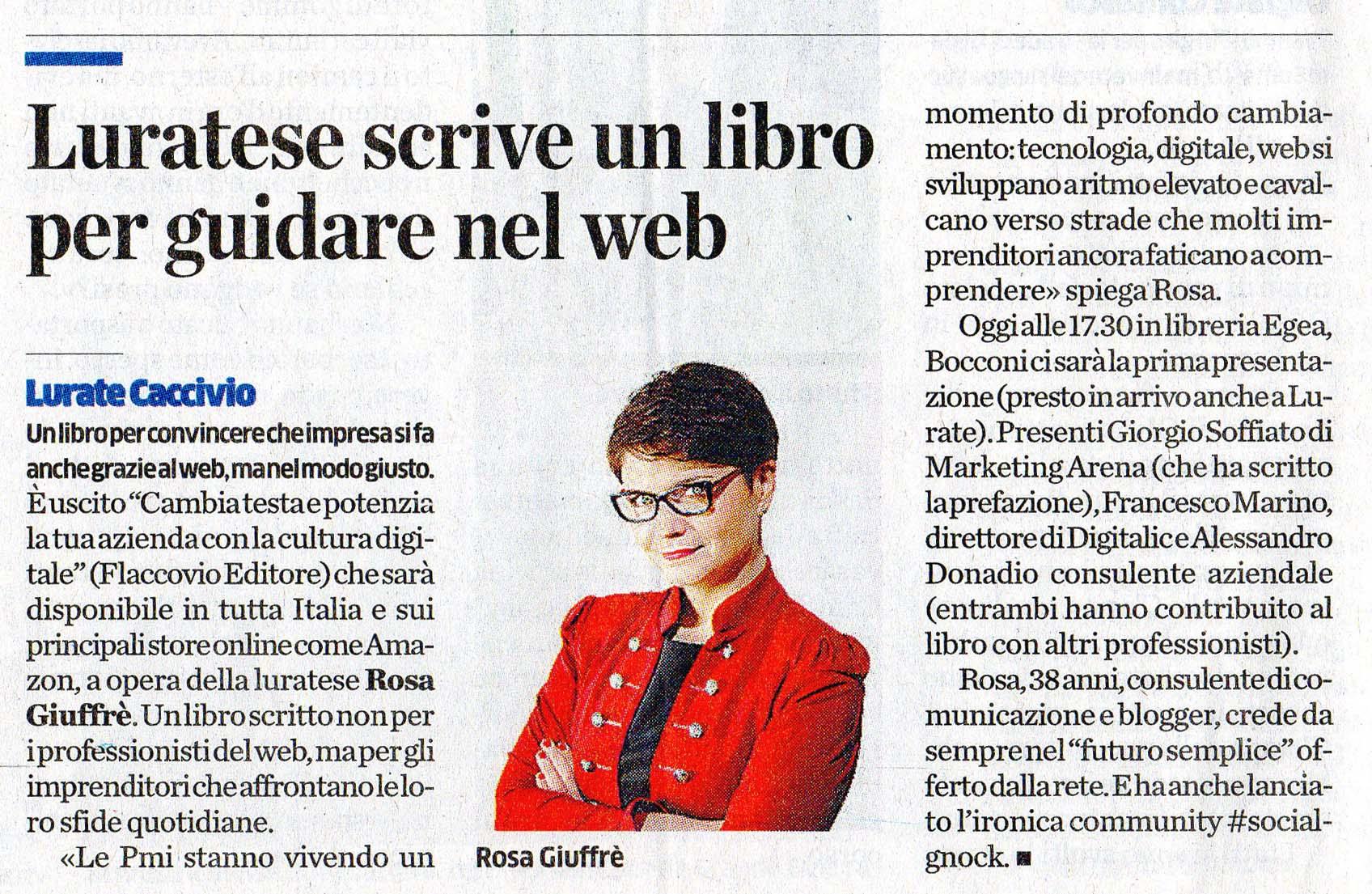 Rosa Giuffrè Futurosemplice La provincia di Como