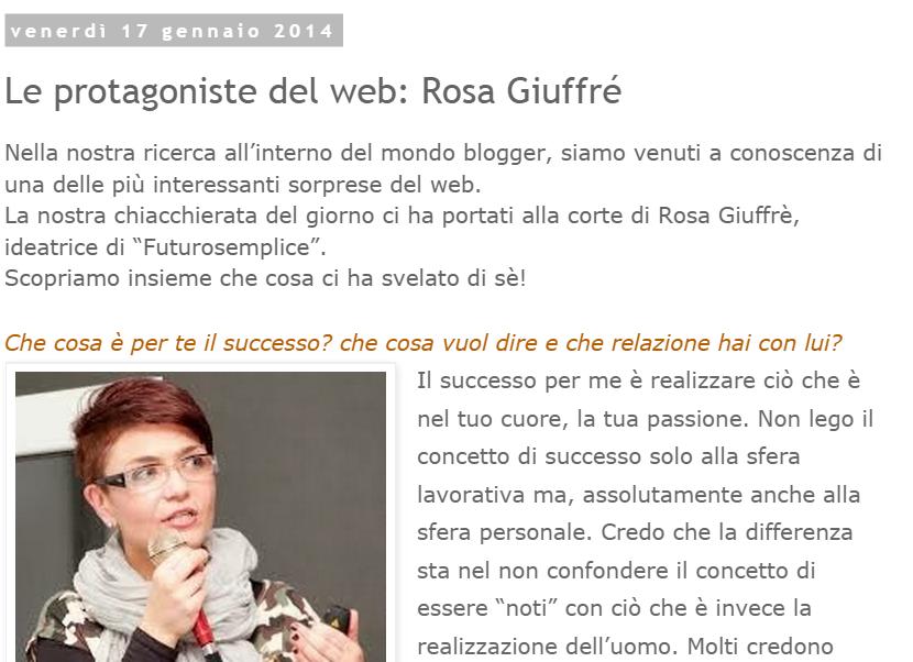 intervista a Rosa giuffrè