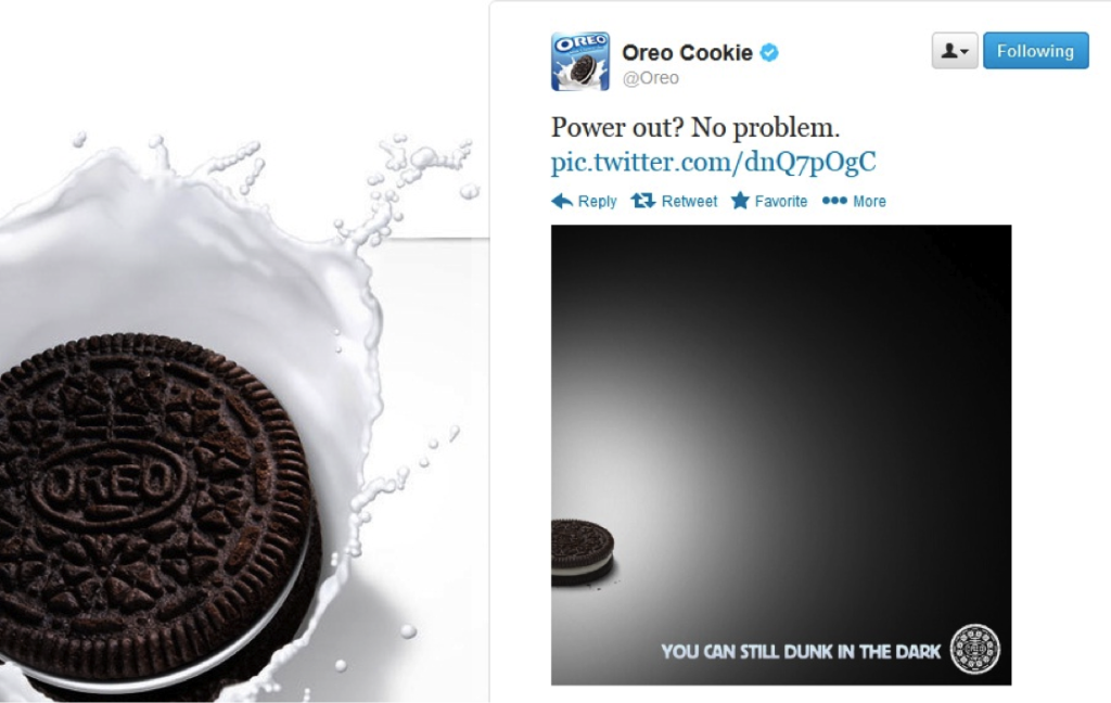 Real Time MArketing oreo super ball