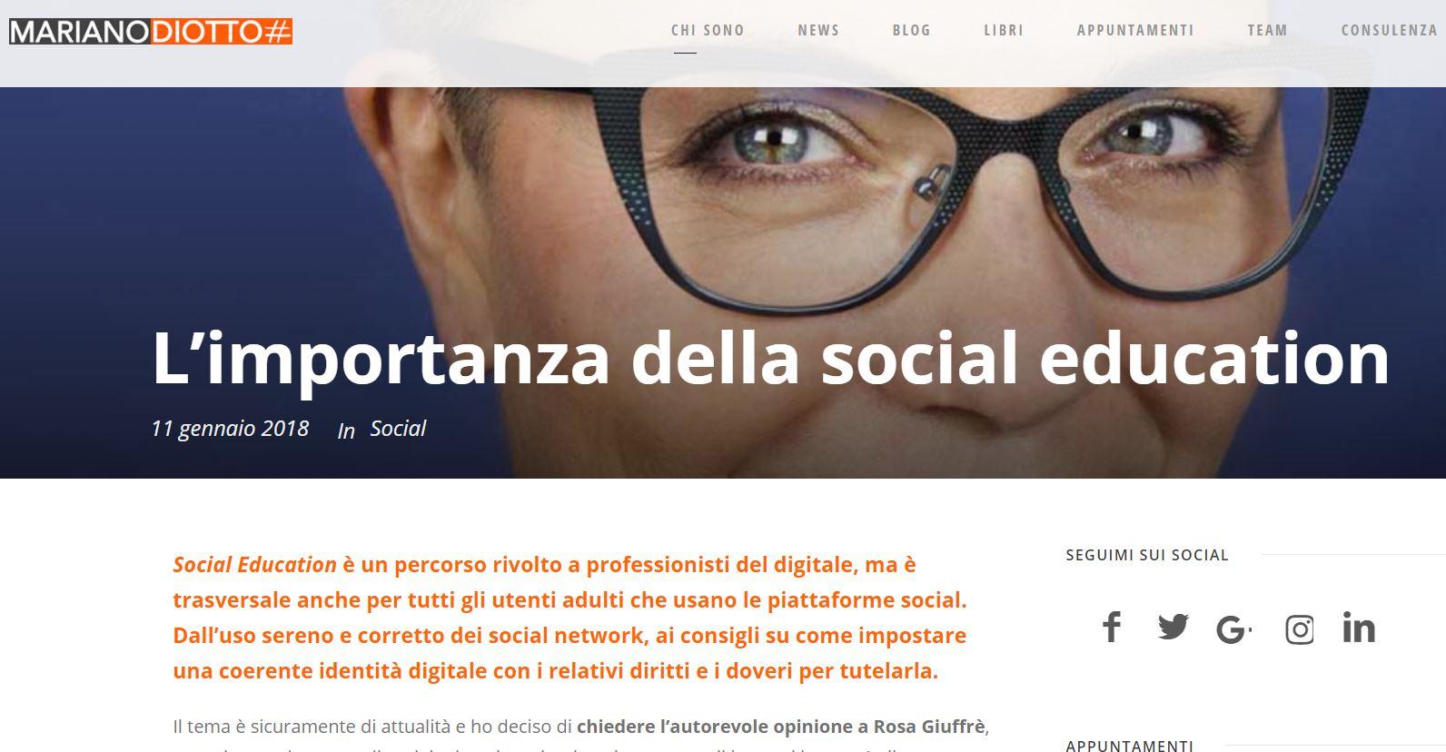 Mariano diotto intervista Rosa Giuffrè