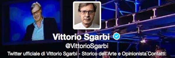 #140art: Vittorio Sgarbi insegna la storia dell'arte su Twitter