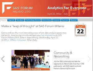sas forum Milano 2015