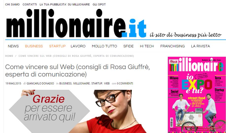 Millionaire Rosa Giuffrè