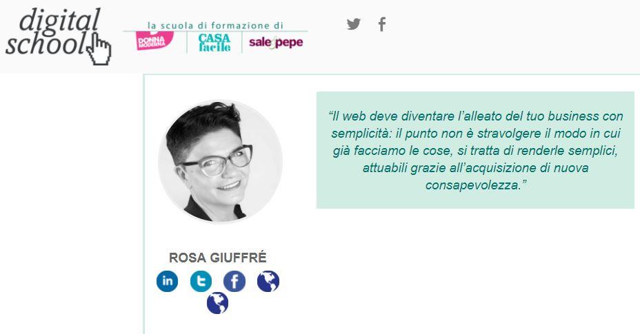Digital school Donna Moderna: corsi con Rosa Giuffrè