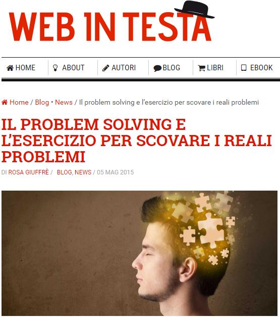 esercizi di problem solving by Rosa Giuffre