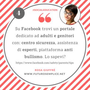 Consigli di Social Education 4: su Facebook il portale genitori anti bullismo