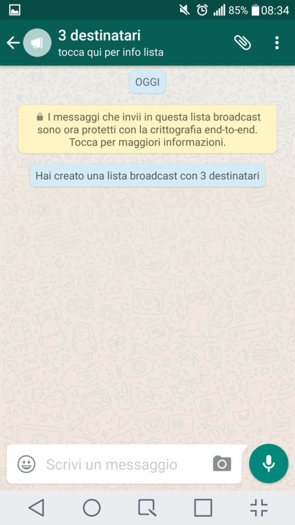 Liste broadcast su WhatsApp 4