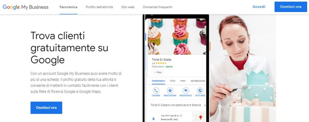 scheda di Google My business 2