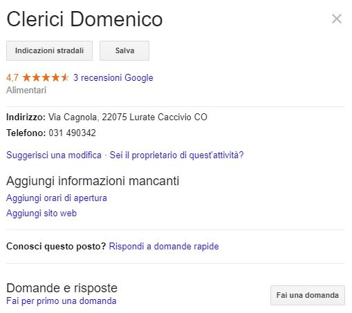 scheda di Google My business1